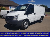 2013 FORD TRANSIT 125 330 SWB LOW ROOF WITH FULL SERVICE HISTORY £7695.00