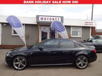 USED 2011 11 AUDI A4 2.0 TDI S LINE BLACK EDITION 4DR DIESEL 170 BHP *BANK HOLIDAY SALE ENDS MONDAY AT MIDNIGHT*