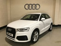 USED 2015 15 AUDI Q3 2.0 TDI S LINE 5d 148 BHP 1 Owner/Audi History/Pearl White/Half Leather/Bluetooth