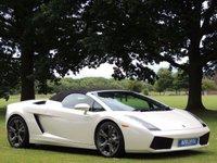 2007 LAMBORGHINI GALLARDO 5.0 V10 SPYDER 2d AUTO 513 BHP £81790.00