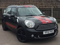 2012 MINI COUNTRYMAN 2.0 COOPER D ALL4 5d AUTO 110 BHP £9495.00