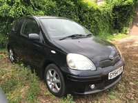 2004 TOYOTA YARIS 1.5 T SPORT VVT-I 3d  MOT UNTIL 12/03/2019  PART EXCHANGE TO CLEAR £1250.00