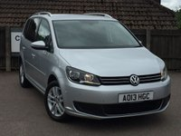 2013 VOLKSWAGEN TOURAN 1.6 SE TDI DSG 5d AUTO 106 BHP £9495.00