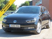 USED 2015 15 VOLKSWAGEN PASSAT 2.0 SE BUSINESS TDI BLUEMOTION TECHNOLOGY 5d 148 BHP SATELLITE NAVIGATION, 3 MONTHS AA WARRANTY INCLUDED