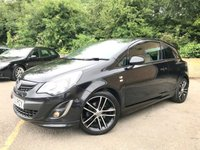 2012 VAUXHALL CORSA 1.4 TURBO BLACK EDITION 3d ONLY 1 FORMER KEEPER, 31K 3 STAMPS £5990.00