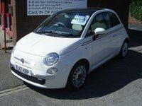 2012 FIAT 500 1.2 LOUNGE 3d 69 BHP £6195.00