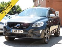 USED 2014 14 VOLVO XC60 2.4 D4 R-DESIGN AWD 5d 178 BHP DAB + BLUETOOTH AUDIO + CRUISE CONTROL