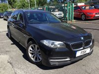 USED 2013 63 BMW 5 SERIES 2.0 520D SE TOURING 5d AUTO 181BHP 1OWNER FROM NEW+2KEYS+SATNAV+