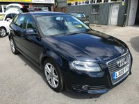 2009 AUDI A3 1.9 TDI E SPORT 5 DOOR 103 BHP IN METALLIC DARK BLUE WITH ONLY 30555 MILES £6999.00