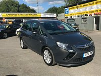 2014 VAUXHALL ZAFIRA TOURER 2.0 SE CDTI 5 DOOR 128 BHP MANUAL IN GREY WITH ONLY 68000 MILES AND 7 SEATS £7299.00