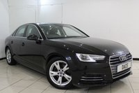 USED 2015 65 AUDI A4 2.0 TDI ULTRA SPORT 4DR AUTOMATIC 148 BHP SAT NAVIGATION + BLUETOOTH + PARKING SENSOR + CRUISE CONTROL + CLIMATE CONTROL + 17 INCH ALLOY WHEELS