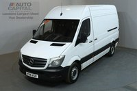 USED 2016 16 MERCEDES-BENZ SPRINTER 2.1 313 CDI 129 BHP MWB HIGH ROOF POWER SIDE LOADING DOOR, SERVICE HISTORY