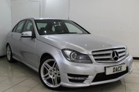 USED 2011 61 MERCEDES-BENZ C CLASS 2.1 C220 CDI BLUEEFFICIENCY SPORT ED125 4DR 170 BHP HALF LEATHER SEATS + SAT NAVIGATION + PARKING SENSOR + AMG STYLING PACKAGE + CRUISE CONTROL + BLUETOOTH + 17 INCH ALLOY WHEELS