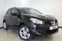 USED 2010 10 NISSAN QASHQAI 1.6 N-TEC 5DR 113 BHP FULL SERVICE HISTORY + REVERSE CAMERA + SAT NAVIGATION + PANORAMIC ROOF + BLUETOOTH + CRUISE CONTROL + CLIMATE CONTROL + 18 INCH ALLOY WHEELS