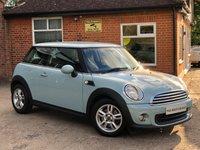 2013 MINI HATCH ONE 1.6 ONE 3d 98 BHP £7225.00