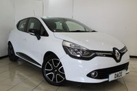 USED 2014 14 RENAULT CLIO 1.5 DYNAMIQUE MEDIANAV ENERGY DCI S/S 5DR 90 BHP FULL SERVICE HISTORY + BLUETOOTH + CRUISE CONTROL + MULTI FUNCTION WHEEL + AIR CONDITIONING + 16 INCH ALLOY WHEELS