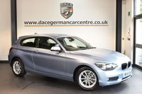 USED 2014 14 BMW 1 SERIES 2.0 116D SE 3DR 114 BHP + FULL BMW SERVICE HISTORY + 1 OWNER FROM NEW + BLUETOOTH + DAB RADIO + SPORT SEATS + RAIN SENSORS + 16 INCH ALLOY WHEELS +
