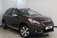 USED 2014 14 PEUGEOT 2008 1.6 E-HDI ALLURE FAP 5DR AUTOMATIC 92 BHP FULL SERVICE HISTORY + HALF LEATHER SEATS + BLUETOOTH + PARKING SENSOR + CRUISE CONTROL + CLIMATE CONTROL + MULTI FUNCTION WHEEL + 16 INCH ALLOY WHEELS