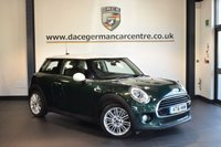 USED 2016 16 MINI HATCH COOPER 1.5 COOPER D 3DR 114 BHP + HALF LEATHER INTERIOR + FULL MINI SERVICE HISTORY + 1 OWNER FROM NEW + SATELLITE NAVIGATION + BLUETOOTH + LIGHT PACKAGE + CRUISE CONTROL + DAB RADIO + RAIN SENSORS + PARKING SENSORS + 17 INCH ALLOY WHEELS +