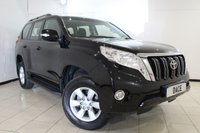 USED 2016 16 TOYOTA LAND CRUISER 2.8 D-4D ACTIVE 5DR AUTOMATIC 175 BHP FULL SERVICE HISTORY + SAT NAVIGATION + 7 SEATS + REVERSE CAMERA + SIDE STEPS + BLUETOOTH + PARKING SENSOR + CRUISE CONTROL + MULTI FUNCTION WHEEL + CLIMATE CONTROL + 17 INCH ALLOY WHEELS