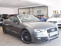 USED 2015 15 AUDI A5 CABRIOLET 2.0 TDI S LINE SPECIAL EDITION PLUS 2d 148 BHP SAT NAV+B&O+R-CAM+LOW MILES