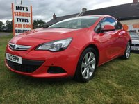 2012 VAUXHALL ASTRA 1.7 GTC SPORT CDTI 60000 FSH LOCAL CAR VERY CLEAN EXAMPLE  £5495.00
