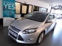 USED 2013 63 FORD FOCUS 1.0 ZETEC 5d 124 BHP Two owners, full service history, November Mot. Finished in Silver with Black cloth seats.