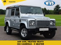 USED 2014 14 LAND ROVER DEFENDER 2.2 TD XS UTILITY WAGON 1d 122 BHP with AIR CON Here we have a rare LWB 110 Land Rover Defender 2.2d XS 5dr 5 SEAT WITH HEATED FRONT SEATS, AIR CON, ALLOY WHEELS, TOWBAR, MUSIC SYSTEM UPGRADE THAT INCLUDES BLUETOOTH AND SIDE STEPS. 1 keeper from new.