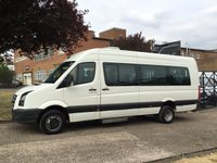 USED 2011 VOLKSWAGEN CRAFTER 2.5 TDI CR50 136BHP XLWB 136BHP MINIBUS 17 SEATER. 1 OWNER. AIRCON. FINANCE. RARE XLWB MINIBUS. AIRCON. PX WELCOME