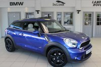 """USED 2013 13 MINI PACEMAN 2.0 COOPER SD ALL4 3d 143 BHP FULL CREAM LEATHER SEATS + SERVICE HISTORY + SAT NAV + HEATED FRONT SEATS + DAB RADIO + BLUETOOTH + CRUISE CONTROL + AIR CON + 16"""" ALLOYS"""