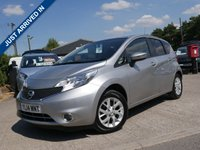 USED 2014 14 NISSAN NOTE 1.2 ACENTA 5d 80 BHP 60 MPG, LOW RUNNING COSTS, £20 ROAD TAX PER YEAR