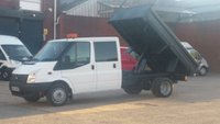 2013 FORD TRANSIT 2.2 350 DRW 1d 99 BHP CREW CAB TIPPER 1 OWNER F/S/H \ FREE 12 MONTHS WARRANTY COVER \ £7990.00