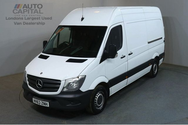 2013 63 MERCEDES-BENZ SPRINTER 2.1 313 CDI MWB 129 BHP H/ROOF RWD VAN ONE OWNER FULL S/H SPARE KEY