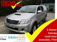 2014 TOYOTA HI-LUX Double Cab 3.0 INVINCIBLE 4WD 171ps (Canopy) £14500.00