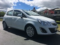 USED 2013 13 VAUXHALL CORSA 1.4 ENERGY AC 5 DOOR 100ps In white very clean example