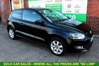 USED 2013 63 VOLKSWAGEN POLO 1.2 MATCH EDITION 3d 59 BHP +AUX +AC +Alloys.