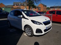 USED 2016 16 PEUGEOT 108 1.0 ACTIVE 5d AUTO 68 BHP AUTOMATIC WITH £0 ROAD TAX, LOW CO2 EMISSIONS, LOW INSURANCE AND EXCEPTIONALLY CHEAP TO RUN!  GOOD SPECIFICATION WITH AIR CONDITIONING, AUXILLIARY INPUT, DAB DIGITAL RADIO, AND MEDIA CONNECTIVITY!  WITH FULL PEUGEOT SERVICE HISTORY AND ONLY 7611 MILES FROM NEW!