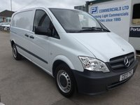 USED 2013 13 MERCEDES-BENZ VITO 113 CDI COMPACT, 136 BHP [EURO 5], 1 COMPANY OWNER