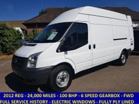 2012 FORD TRANSIT 350 LWB HIGH ROOF WITH ONLY 24,000 MILES £7995.00