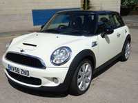 USED 2008 58 MINI HATCH COOPER 1.6 COOPER S 3d 172 BHP PART LEATHER +  SERVICE RECORD +   BLUETOOTH +  FULL YEAR MOT +  TRACTION CONTROL +  AUX CONNECTION
