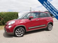 USED 2014 14 FIAT 500L 1.2 MULTIJET TREKKING DUALOGIC 5d AUTO 85 BHP LOW MILES+ONE OWNER,+AUTOMATIC