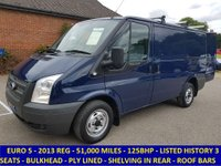 2013 FORD TRANSIT 125 300 SWB WITH ONLY 51,000 MILES £6795.00