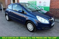 USED 2007 07 VAUXHALL CORSA 1.2 LIFE A/C 3d 80 BHP +LOW Mileage.