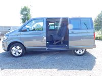 USED 2017 67 VOLKSWAGEN TRANSPORTER T32 KOMBI HIGHLINE  DSG (AUTO) GEARBOX 150 SWB BLUEMOTION EURO 6 Sat Nav, Auto (DSG), Electric Folding Mirrors, Semi Ply Lined, 2+1 Rear Seats, Twin Side Sliding Doors and Captain Seats.