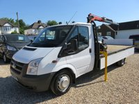 USED 2011 61 FORD TRANSIT 2.4 TDCi 350 E/F DRW LWB DROPSIDE TRUCK WITH PALFINGER CRANE