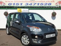 USED 2012 62 CITROEN C3 PICASSO 1.6 PICASSO VTR PLUS HDI 5d 91 BHP DIESEL, FULL HISTORY, 2 OWNERS, FINANCE AVAILABLE