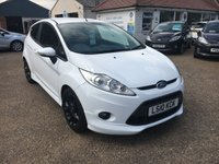"USED 2010 10 FORD FIESTA 1.6 ZETEC S 3d 118 BHP FULL SERVICE HISTORY / UPGRADE 17""  BLACK ALLOY WHEELS"