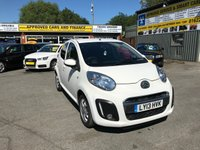 USED 2013 13 CITROEN C1 1.0 VTR PLUS 5 DOOR 67 BHP IN WHITE WITH AIRCON WITH LOW MILEAGE APPROVED CARS ARE PLEASED TO OFFER THIS CITROEN C1 1.0 VTR PLUS 5 DOOR 67 BHP IN WHITE WITH AIRCON WITH LOW MILEAGE IN IMMACULATE CONDITION WITH AIR CON,ELECTRIC FRONT WINDOWS,CENTRAL LOCKING,BLUETOOTH,AUX AND USB A GREAT LITTLE FIRST CAR OR SMALL TOWN CAR.
