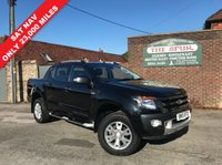 USED 2015 15 FORD RANGER 3.2 WILDTRAK 4X4 DCB TDCI 1d 197 BHP SAT NAV, Air Con, Only 23,000 Miles, Tow Bar, Rear Lock And Roll Top.