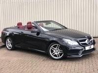 USED 2015 65 MERCEDES-BENZ E-CLASS 2.1 E220 BLUETEC AMG LINE 2DR AUTO 174 BHP RED LEATHER